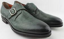 SANTONI Luxus Herrenschuhe Größe 42,5 / 8,5 - NEU - Goodyear welted Monk