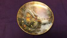 "Thomas Kinkade Simpler Times Calendar Plate February ""Sweetheart Cottage 2"""