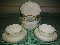 10PCS Noritake Nippon 11657 The Linwood 6 Cereal Bowls 2 Cups 2 Saucers Floral