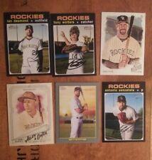 Colorado Rockies 6 Card Lot Todd Helton David Dahl