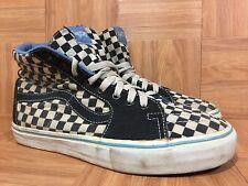 RARE🔥 VANS Sk8-Hi Hemp-Tweed Checkerboard Sz 9 Blue Men's Skateboarding Shoes