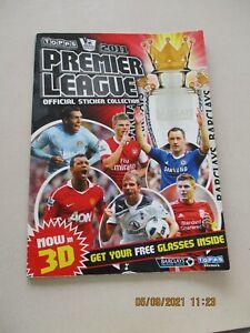 Topps 2011 FA Premier League Official Sticker Collection Empty Album