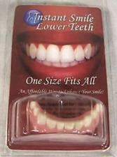 PERFECT SMILE BOTTOM TEETH W FREE HARD CASE fake dentures veneers Instant smile