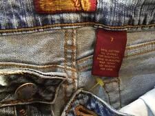 Z.D. Zana Di size 7 inseam 31 low rise stretch boot cut medium wash 99% cotton