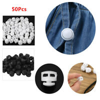50Pcs_Plastic Toggle Double Holes Spring Elastic Drawstring Rope Cord Locks_Clip