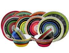 Gibson 24-piece Colorful Melamine Dinnerware Set Service for 8 FREE SHIP NEW