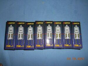 (8) Satco Bi-Pin Halogen Lamp Light Bulb 12V 75W GY6.35 S3156