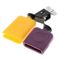 Cow Bell Multicolor Plastic Drum Percussion Musical Accessory for Drum Set