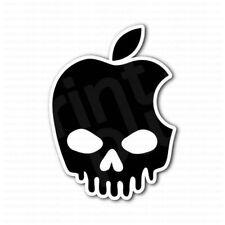 Apple Dripped Skull Sticker