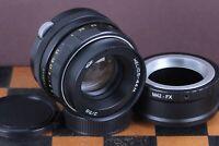Helios 44m 58mm f2 Portrait Bokeh Zenit Lens DSLR M42 Moun + FujiFilm FX adapter