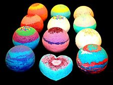 Individual bath bomb fizzy fizzies 4.5 oz Large Colorful Bath Bombs