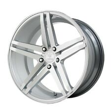 22x9 Verde Parallax 5x115 +20 Silver/Machined Rims Wheels Brand New (Set)