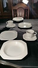 Mikasa Continental White F3000 8 pieces 2 lunch sets dishes saucers plates cups