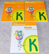 Horizons (Kindergarten) MATH K NEW Student Workbooks/Teacher Guide SET