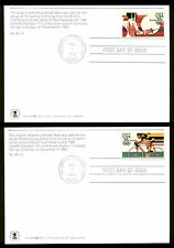 C109-C112 35c OLYMPICS  FDC COLORADO SPRINGS, CO  SET of 4 USPS MAXI CARDS