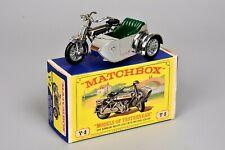 R&L Diecast: Vintage Matchbox 1914 Sunbeam & Milford Sidecar, Bike, Motorbike Y8