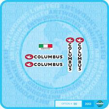 Columbus forcella & Catena SOGGIORNO Bicicletta Decalcomania Trasferimento Adesivo-Set 55