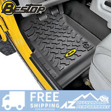 Bestop Front Floor Liner Set 97-06 Jeep Wrangler TJ & Unlimited 51509-01 Black