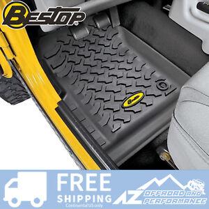 Bestop Front Floor Liner Set - Black fits 1997-2006 Jeep Wrangler TJ LJ 51509-01