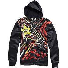 FOX RACING Men's ROCKSTAR SPIKE VORTEX Zip-Up Fleece BLK  Medium NWT Reg $120