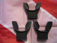 SCUBA DIVING 3 - NEW $9 STANDARD BLACK SILICONE RUBBER REGULATOR MOUTHPIECES