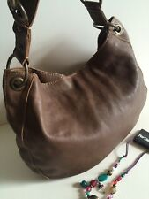 Fossil Large Soft Brown Leather Hobo Shoulder Cross Body Purse