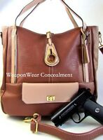 Concealment Purse New Style BROWN Concealed Carry CCW Holster Gun Tote Purse #48