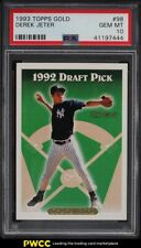 1993 Topps Gold Derek Jeter ROOKIE RC #98 PSA 10 GEM MINT