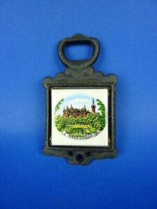 alter Flaschenöffner Schloß Schwerin Fliese Kachel 11,5 cm Vintage Sammlerstück
