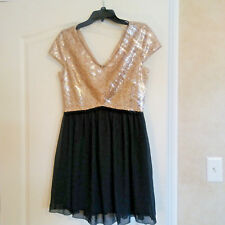 Speechless Junior's Sequined Bodice Fit & Flare Prom Dress Size 9 EUC Skater