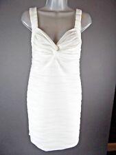 JANE NORMAN, Size 14, White Bodycon Bandage Pencil Dress Clubwear Party
