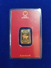 🔥 5 gram .9999 Gold Bar - Austrian Mint KineBar Design (In Assay) SHIPS FAST!