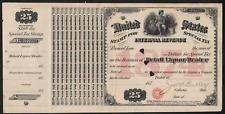 U.S.Internal Revenue Stamp for Special Tax 1874 $25 Retail Liquor Dealer