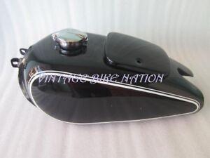 BMW R71 Black Painted Petrol Tank Vintage German Motorcycle (Rep) With Monza Cap