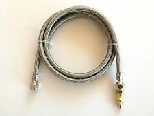 """10' Propane Natural Gas LP Stainless Steel RV 1/4"""" Male Quick Connect Disconnect"""