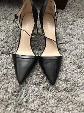 Nine West Black Ankle Strap Heels Size 9M