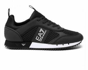 Emporio Armani X8X027 XK050 Mesh EA7 Mens Trainers Black Shoes Sneakers