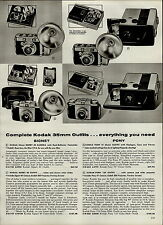 1959 PAPER AD 4 PG Kodak Argus Minox Rolleiflex Ansco Spartus Camera Cameras