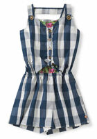 Matilda Jane Country Roads Romper Girls Size 12 NWT In Bag Blue 4th Of July