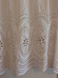 Forever New Size 12 Ivory Silk Blend Eyelet Top