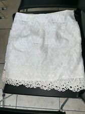 Women forever 21 White  lace lined Mini Dress  Skirt White Sexy Small
