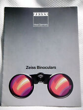 Zeiss West Germany ~ Zeiss Binoculars - Technical Characteristics ~ Brochure