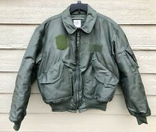 USAF GREEN NOMEX FIRE RESISTANT COLD WEATHER FLYERS JACKET CWU-45/P - LARGE