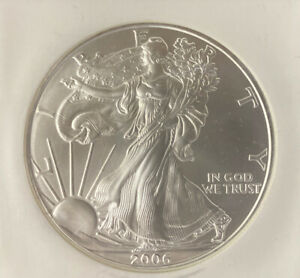 2006 $1 Silver American Eagle Graded by NGC as MS-69 First Strikes