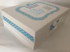 Extra Large Personalised New Baby Boy Keepsake Memory Box Collection only!
