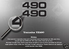 YAMAHA YZ490 490 SIDE COVER DECALS GRAPHICS LIKE NOS