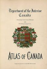 Canada maps 2 Atlases old Genealogy statistics history immigrants atlas Dvd