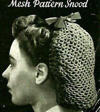 Vintage Crochet pattern- How to make a wartime 1940s hair snood- easy make