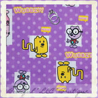 Purple Wow Wow Wubbzy Fabric by AE Nathan Co bty REDUCED PRICE