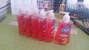 ● Lot: dial pomegranate tangerine hand soap, six bottles